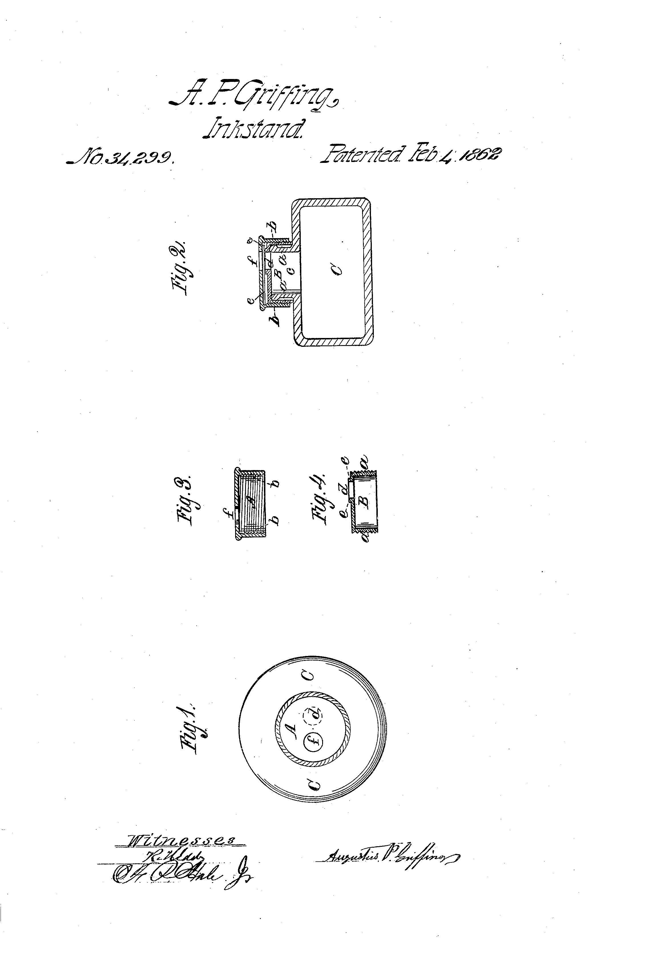 Griffen Patent Inkstand