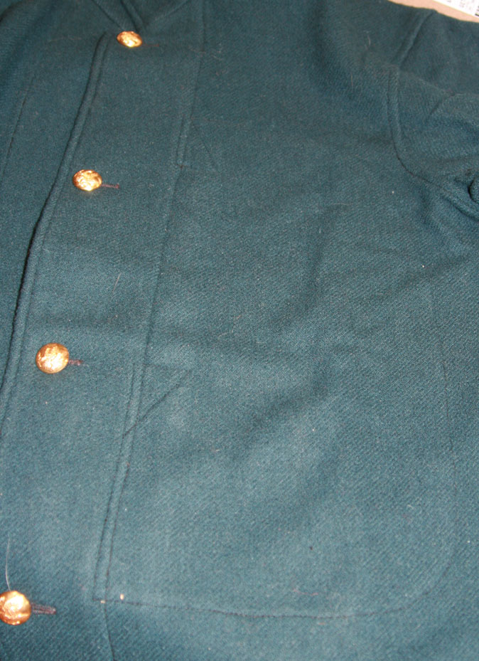 Pocket topstitching on economy blouse
