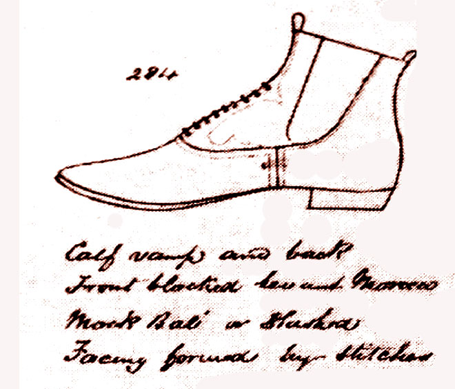1865 Shoe maker's catalog entry