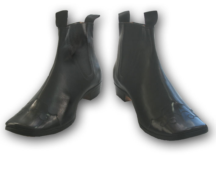 Congress Gaiter with patent toe cap