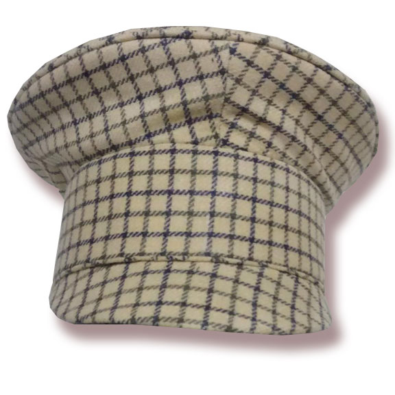 Plaid Civilian Mechanic's Cap