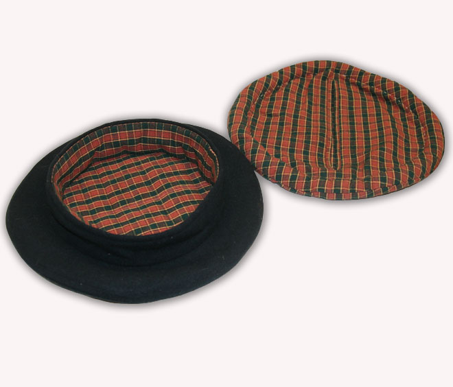 Inside view of naval cap with liner removed