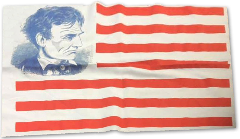 1860 Campaign Flag Lincoln Profile
