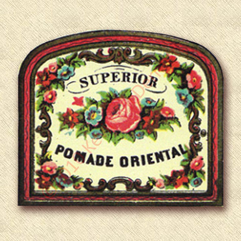 Superior Pomade Oriental Label.