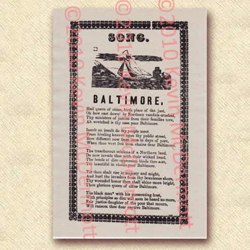 "Southern (or sympathizing) Ballad: ""Song. Baltimore."""