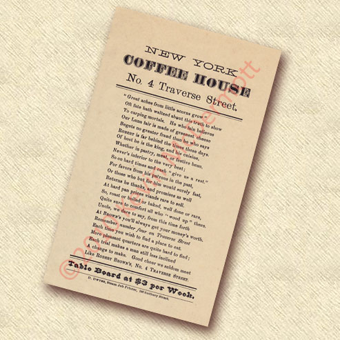 New York Coffee House Handbill