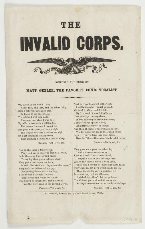 Song sheet of the Invalid Corps