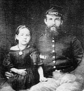 Private Allen and daughter