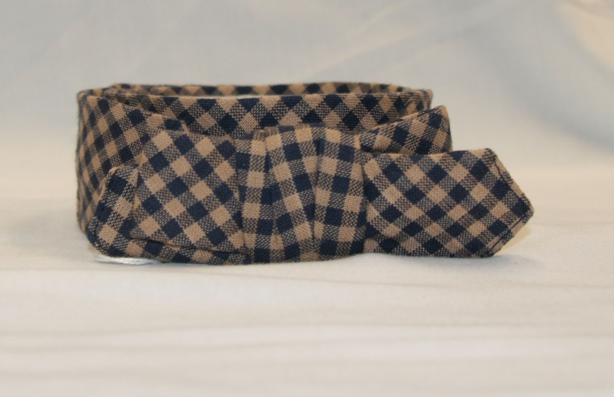 Spring Cravat Blue and Natural plaid