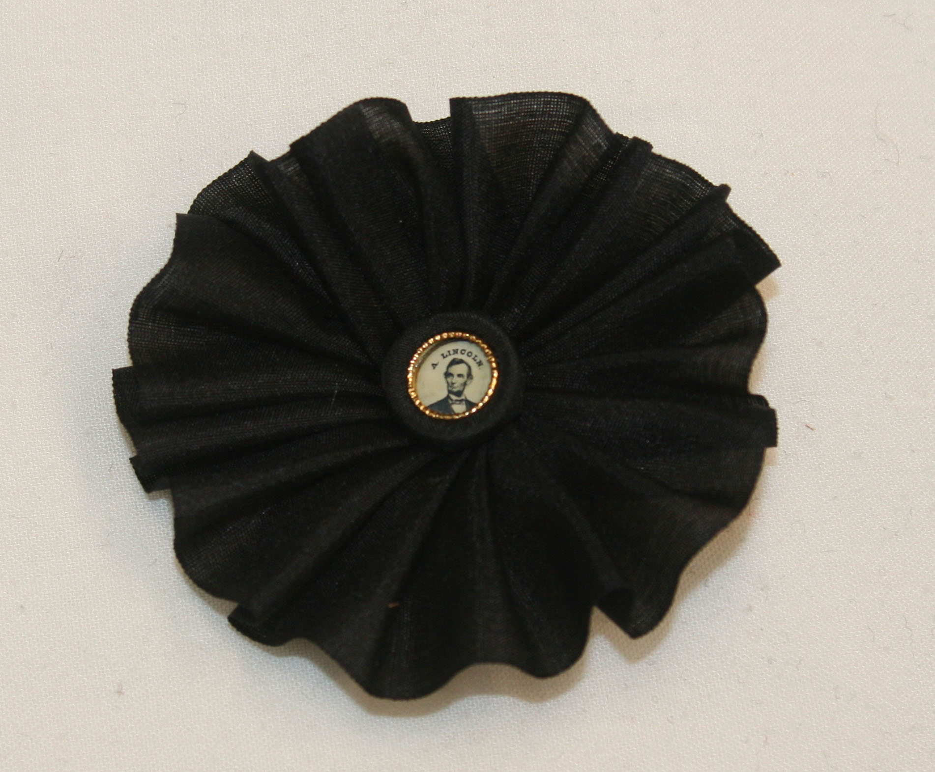 Lincoln Mourning silk Cockade
