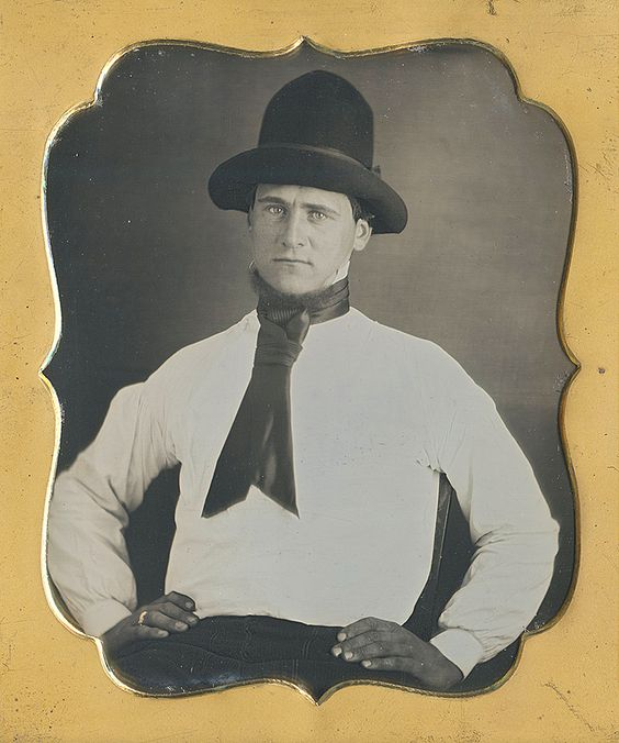 Daguerrotype of Laborer wearing this style of cravat