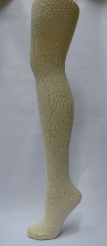 Lightweight ribbed wool stockings
