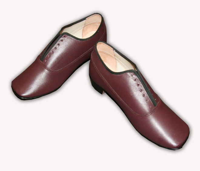 Maroon Ladies Low shoe size 10