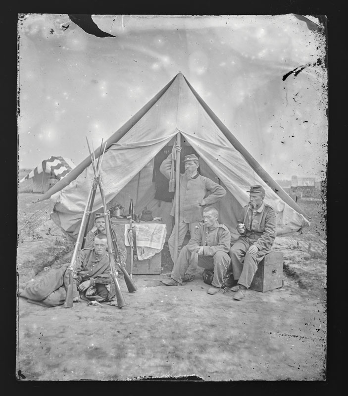 NY Regiment in the field showing details of camp life