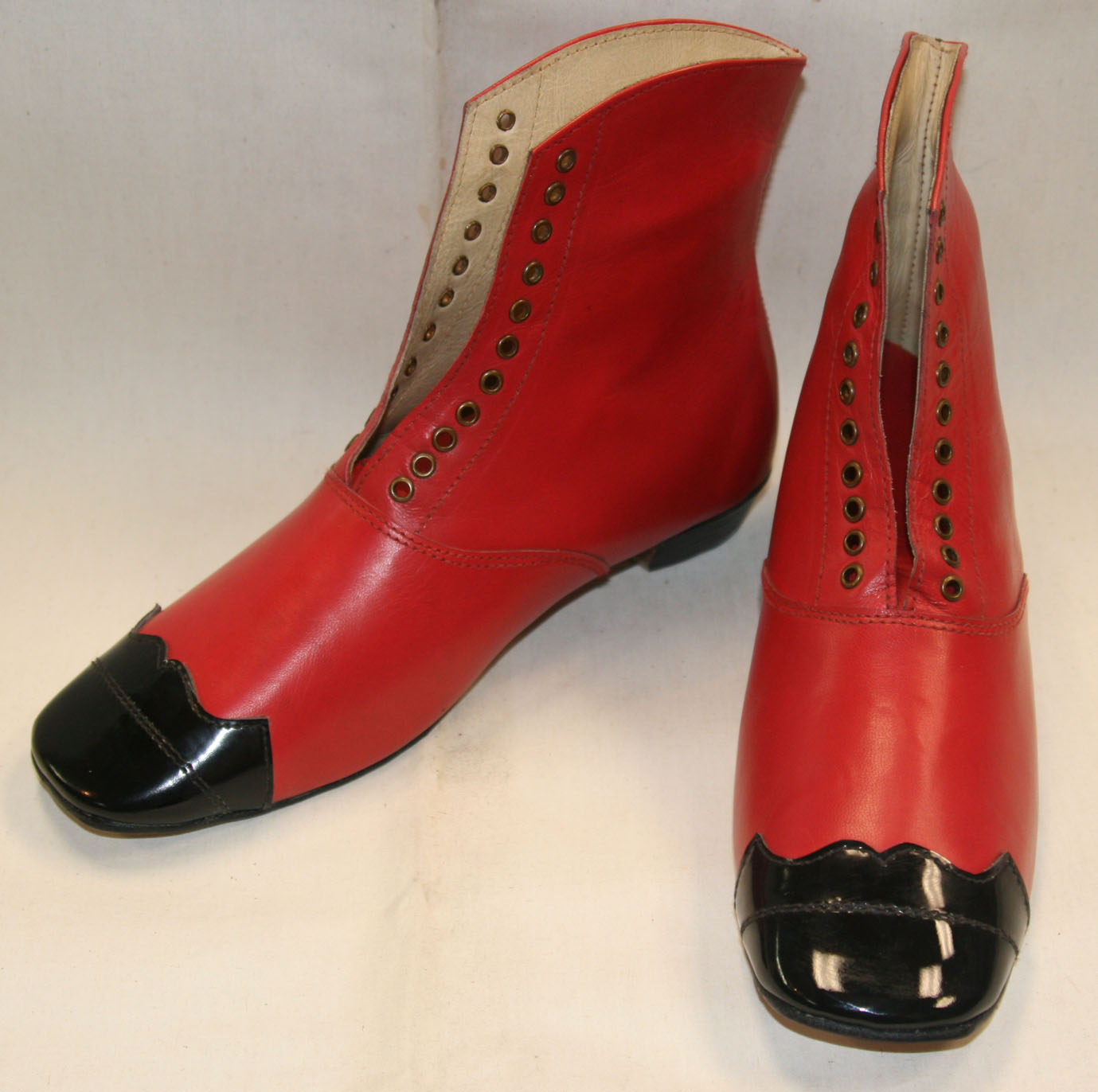 Red balmoral style shoe size 10