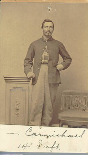 Neil Carmichael,Company I, Twenty-first Michigany, age 22, on February 15th, 1865.