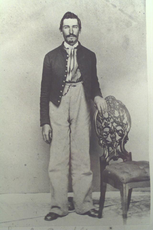Pvt. Samuel Wickline, Company D. 21st Pa Cavalry