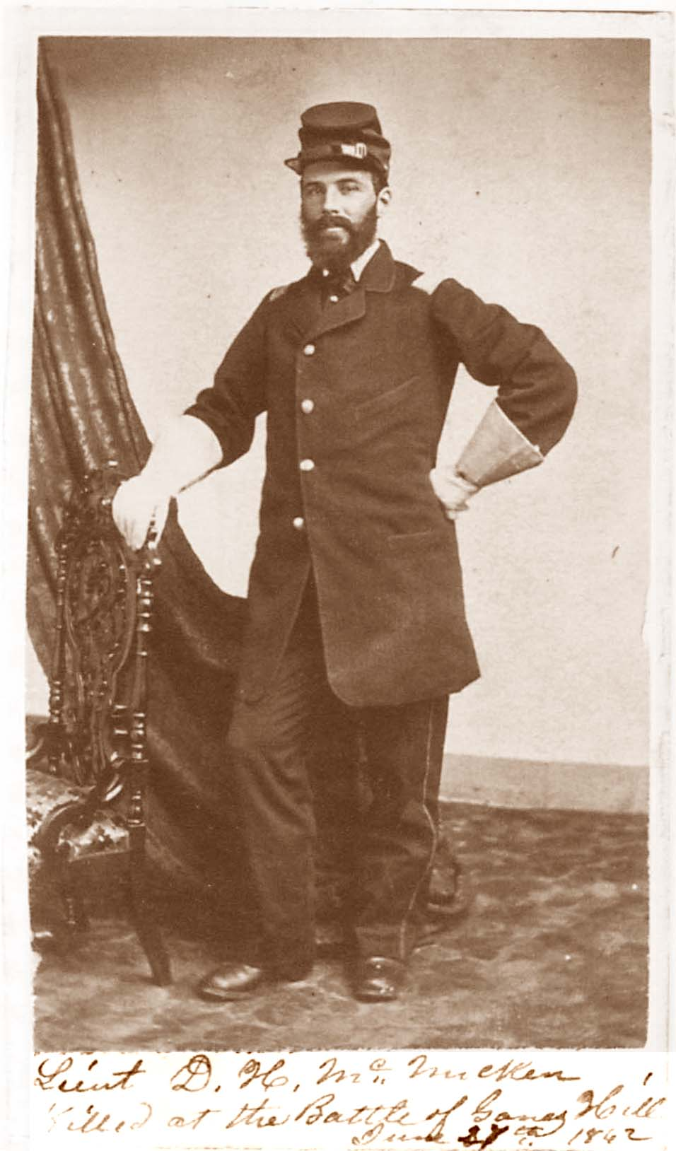 Lt. David Hayes McMicken (Courtesy of Ronald Coddington's Faces of the Civil War)