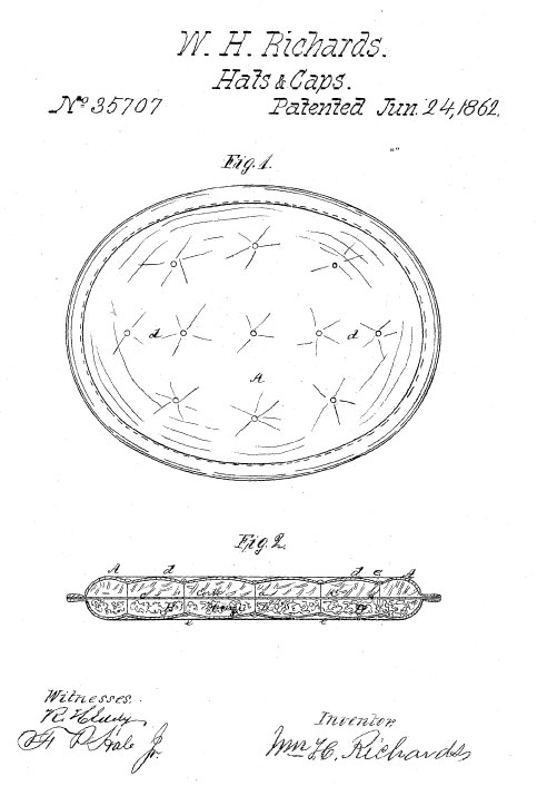 Richards Sunstroke Patent Drawing