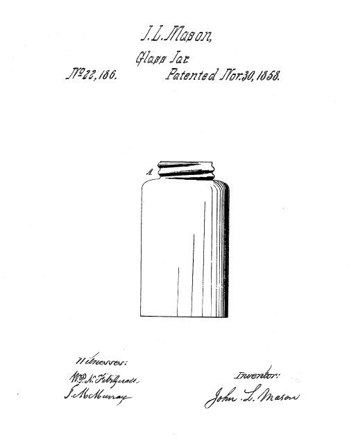 Mason's Patent Drawing